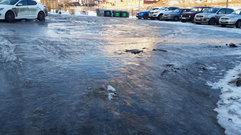 Лед - территория обслуживается УК Управдом